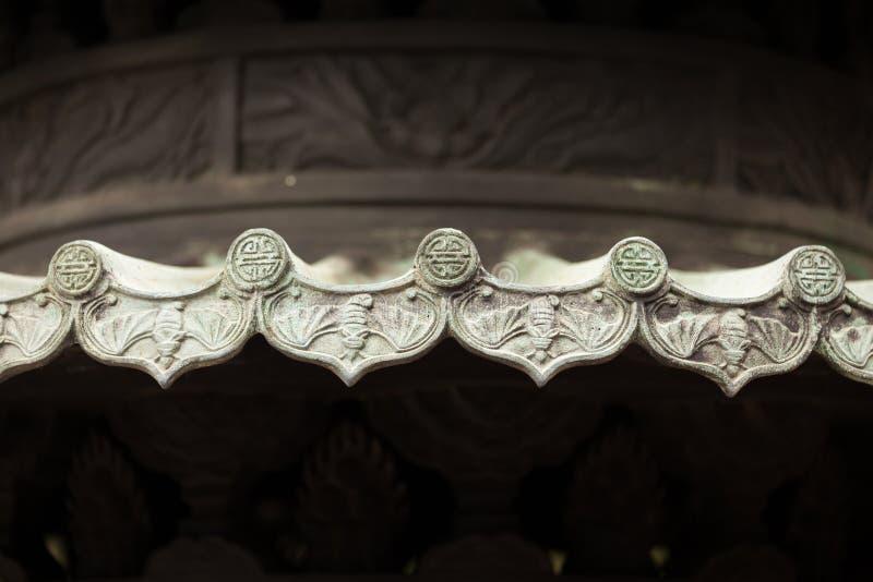 De Chinese ornamenten van het tempel traditionele dak stock fotografie