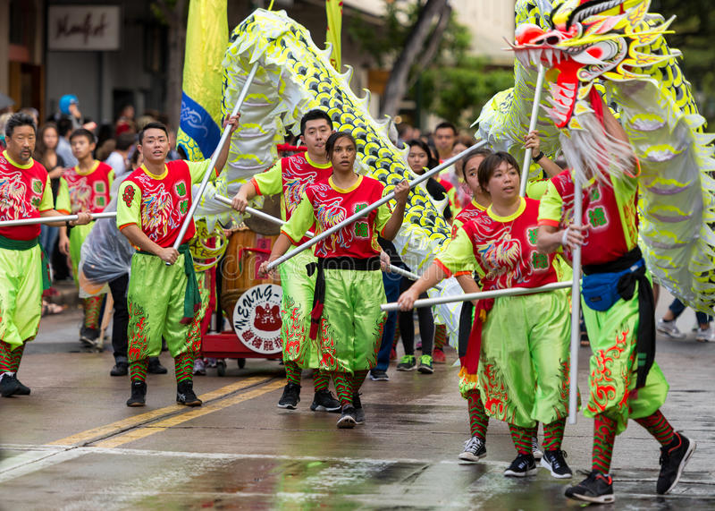 De Chinese Parade van het Nieuwjaar stock fotografie