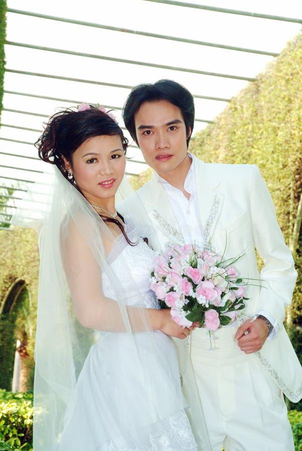 De Chinese paren stock foto's