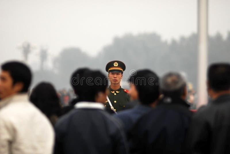 De Chinese politie bewaakt hoofdartikel stock afbeeldingen