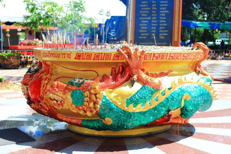 De Chinese pot van de draakwierook royalty-vrije stock foto's