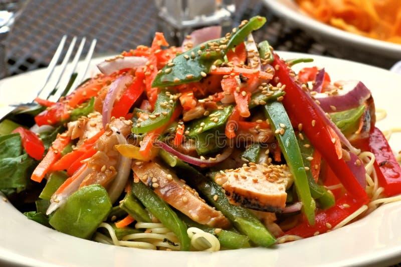 De Chinese Salade van de Kip stock fotografie