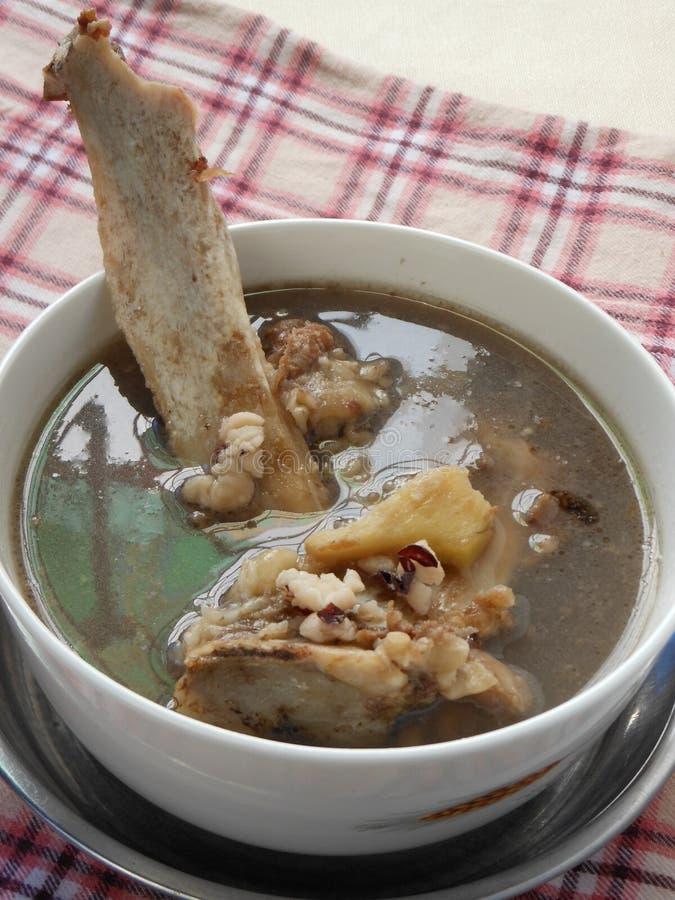 De Chinese soep van de de beenderengember van de voedseltherapie royalty-vrije stock afbeeldingen