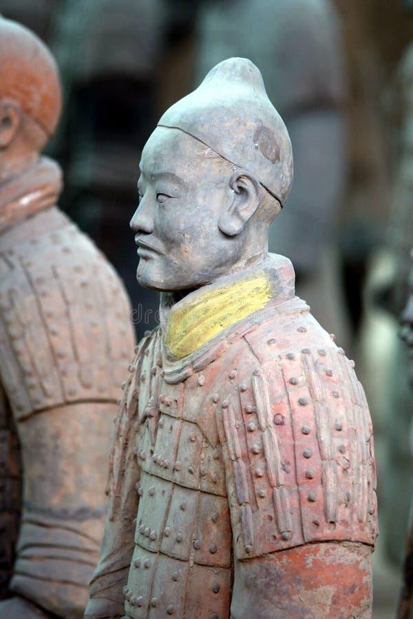 De Chinese strijder van het Terracotta stock foto's