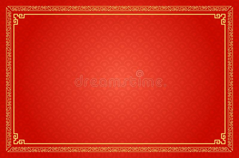 De Chinese Traditionele Achtergrond, het Kader van het Fretwork stock illustratie