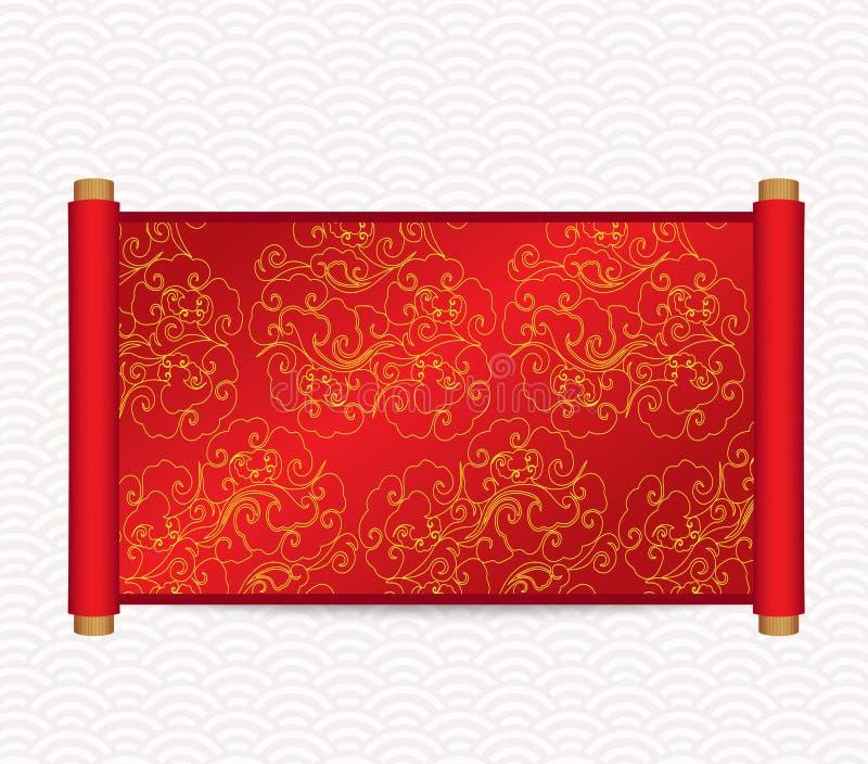 De Chinese vectorillustratie van de stijlrol vector illustratie