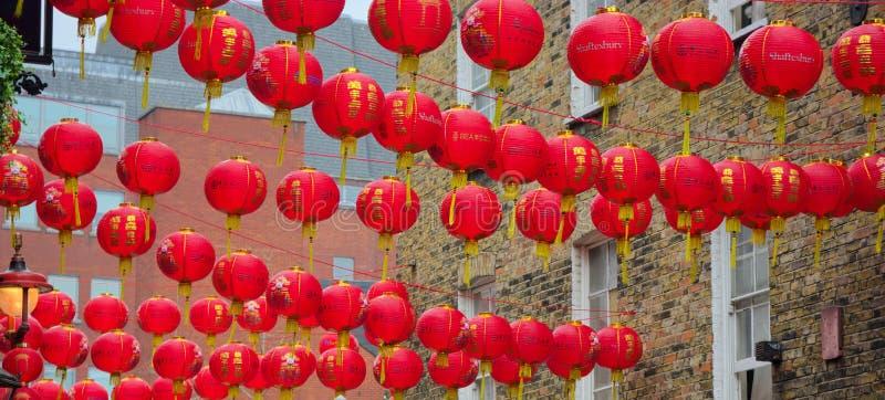 De Chinese vieringen van het Nieuwjaar lantaarns stock foto's