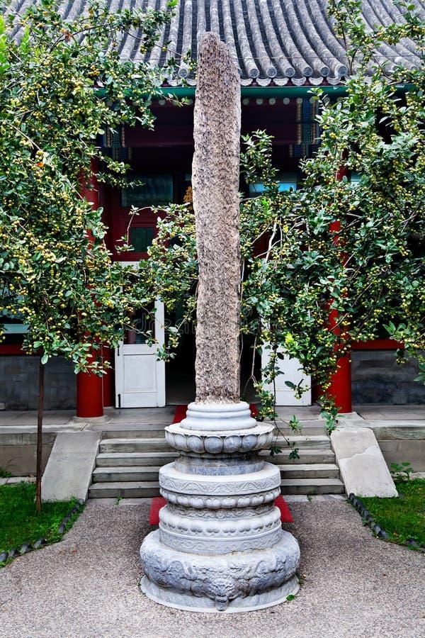De ching-Leng van Soong van het Monument van de steen Woonplaats Peking stock foto's
