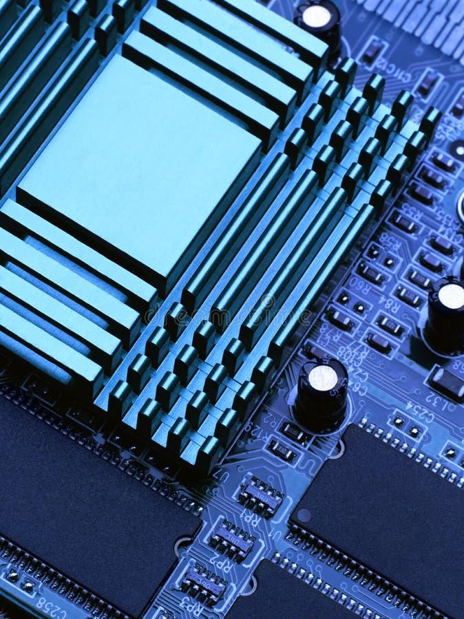 De chip en cpu royalty-vrije stock afbeelding
