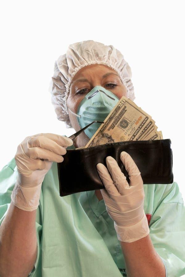 De Chirurgie van de portefeuille stock foto's