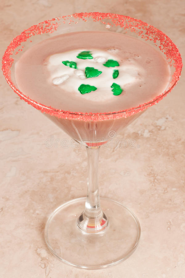 De Chocolade martini van de vakantie royalty-vrije stock foto's
