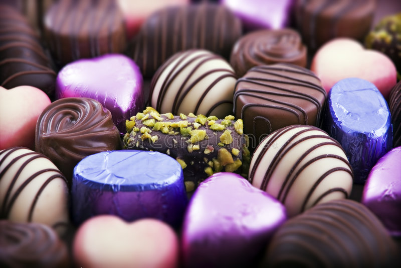 De chocolade van de luxe stock afbeelding