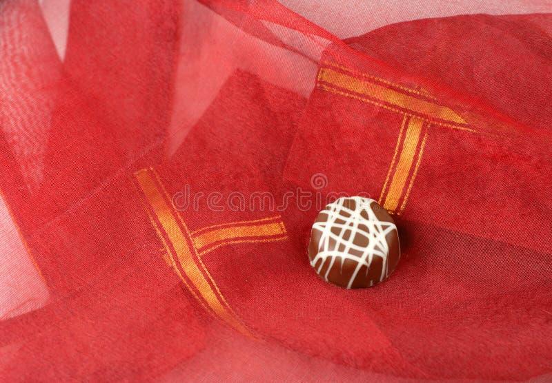 De chocolade van de valentijnskaart royalty-vrije stock foto's