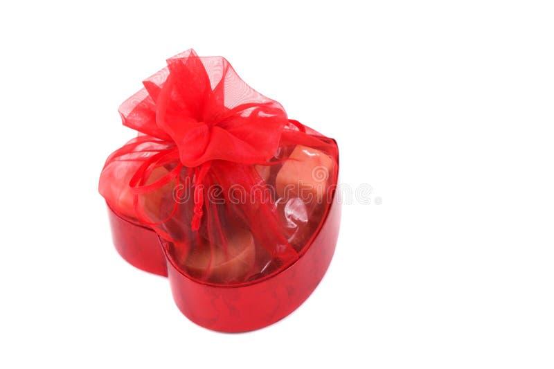 De chocolade van de valentijnskaart royalty-vrije stock fotografie