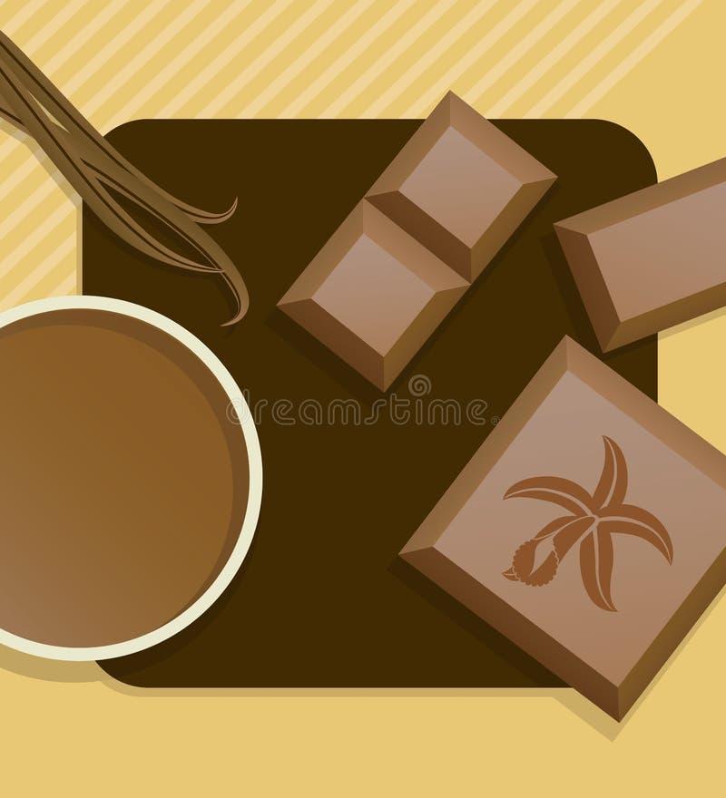De chocolade van de vanille. stock illustratie