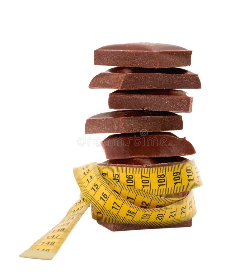 De chocolade van het dieet stock afbeelding