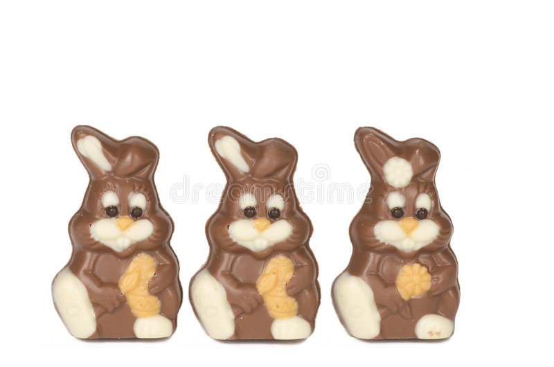 De chocolade van Pasen stock afbeelding