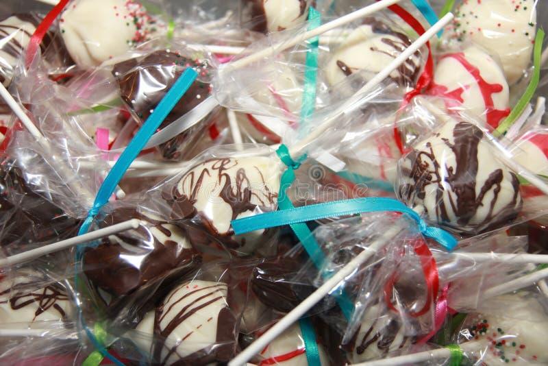 De Chocolade van suikergoedkerstmis behandelt stock afbeeldingen