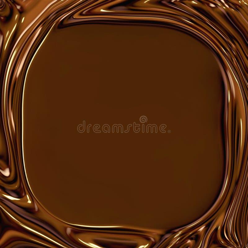 De chocolade wervelt Frame stock illustratie