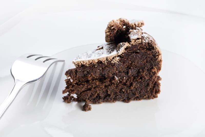 De chocoladecake van Flourless stock afbeeldingen