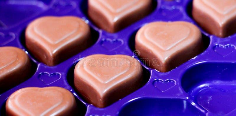 De chocoladeharten, sluiten omhoog royalty-vrije stock afbeelding