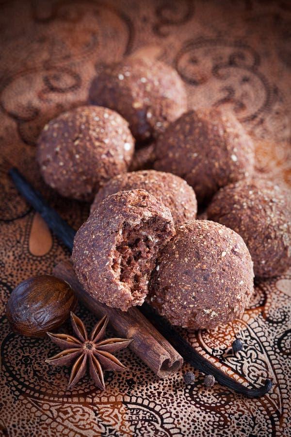 De chocoladekoekjes van het havermeel royalty-vrije stock fotografie