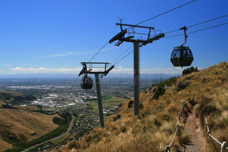 De Christchurch Gondel, Nieuw Zeeland stock afbeeldingen