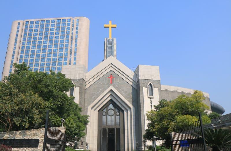 De Christelijke kerk Hangzhou China van Hangzhouchongyi royalty-vrije stock foto's