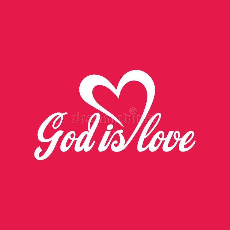 De christelijke van letters voorziende `-God is liefde ` royalty-vrije illustratie