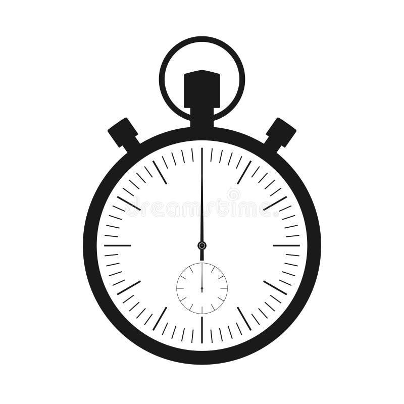 De chronometer bedriegt Een symbool van snelheidsmeting stock illustratie