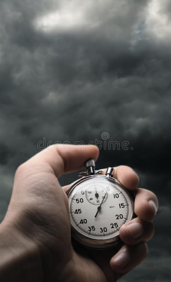 De chronometer van de handholding royalty-vrije stock afbeelding