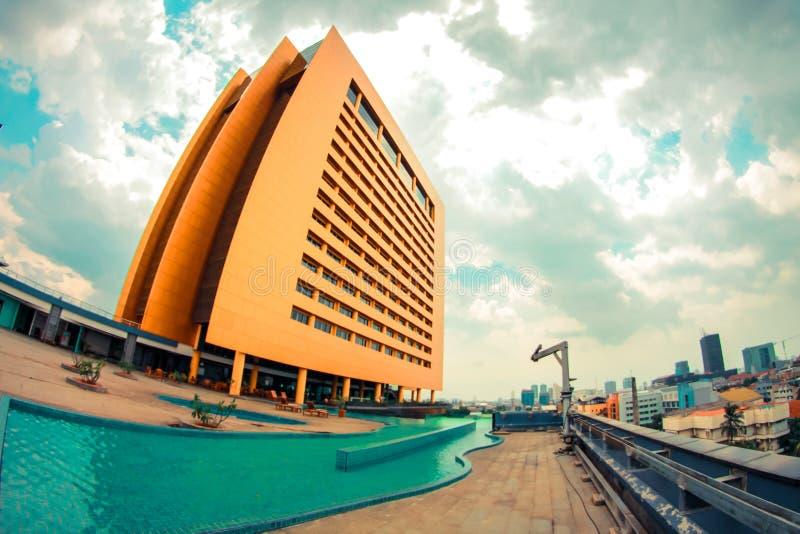 26/04/2014 de cidade de Jakarta do hotel de Merlynnpark fotos de stock royalty free