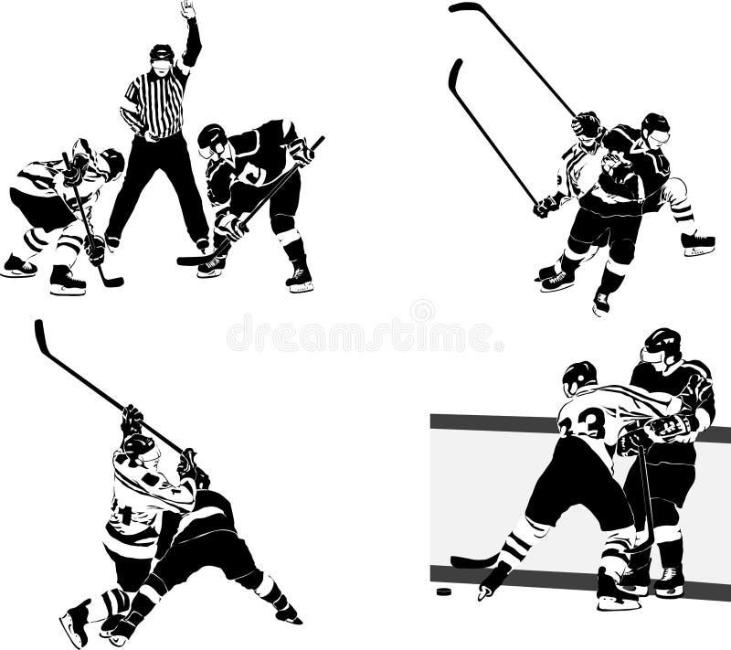 De cijfers van het ijshockey stock illustratie