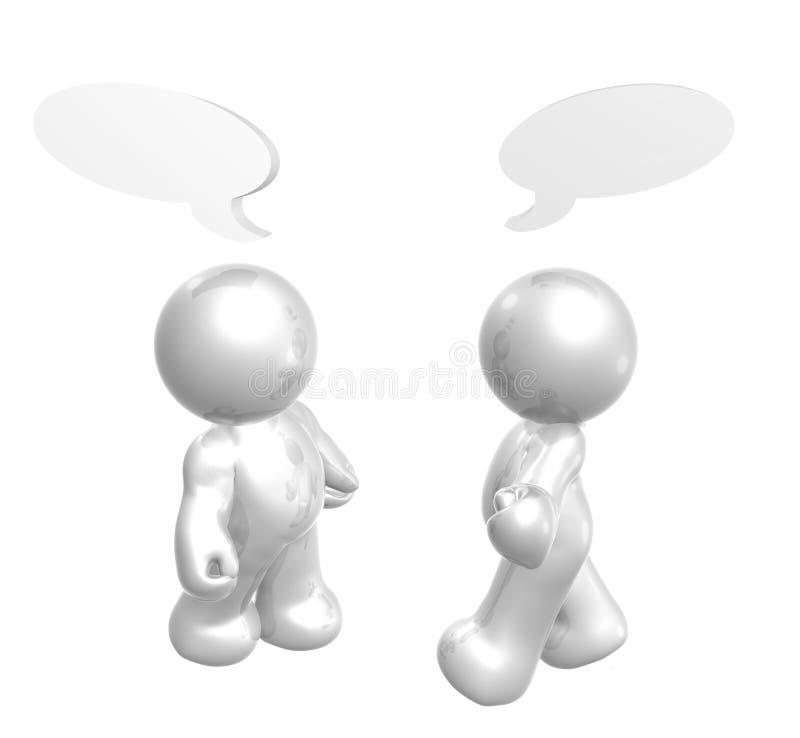 De cijfers van het pictogram genieten van babbelend met grappige ballons royalty-vrije illustratie