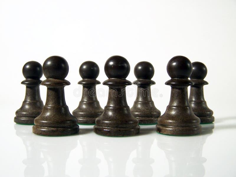 De cijfers van het schaak stock afbeelding