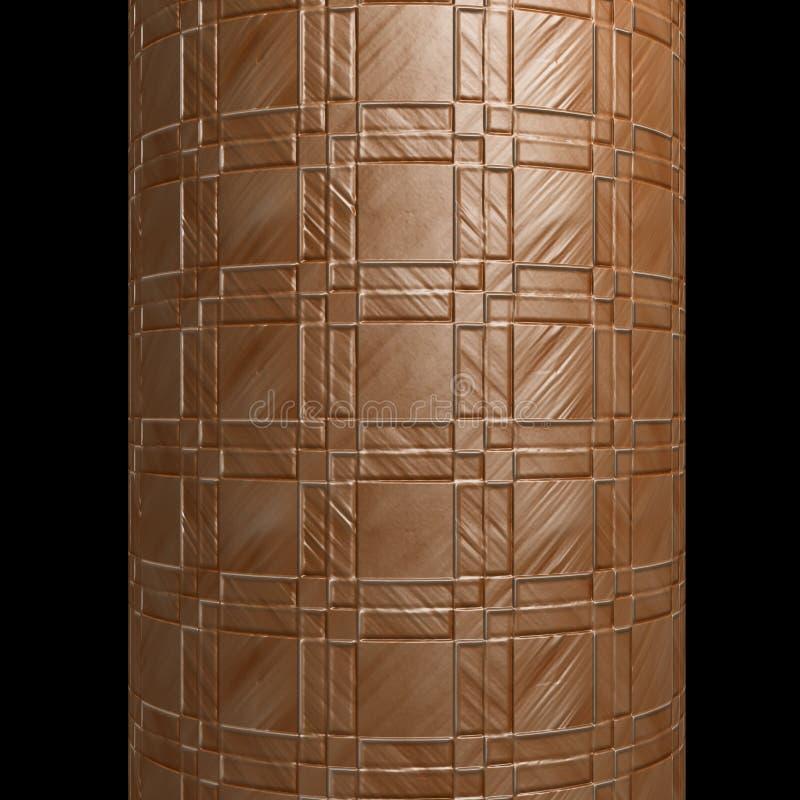 De cilinder metaalframe van de buis textuurlapwerk vector illustratie