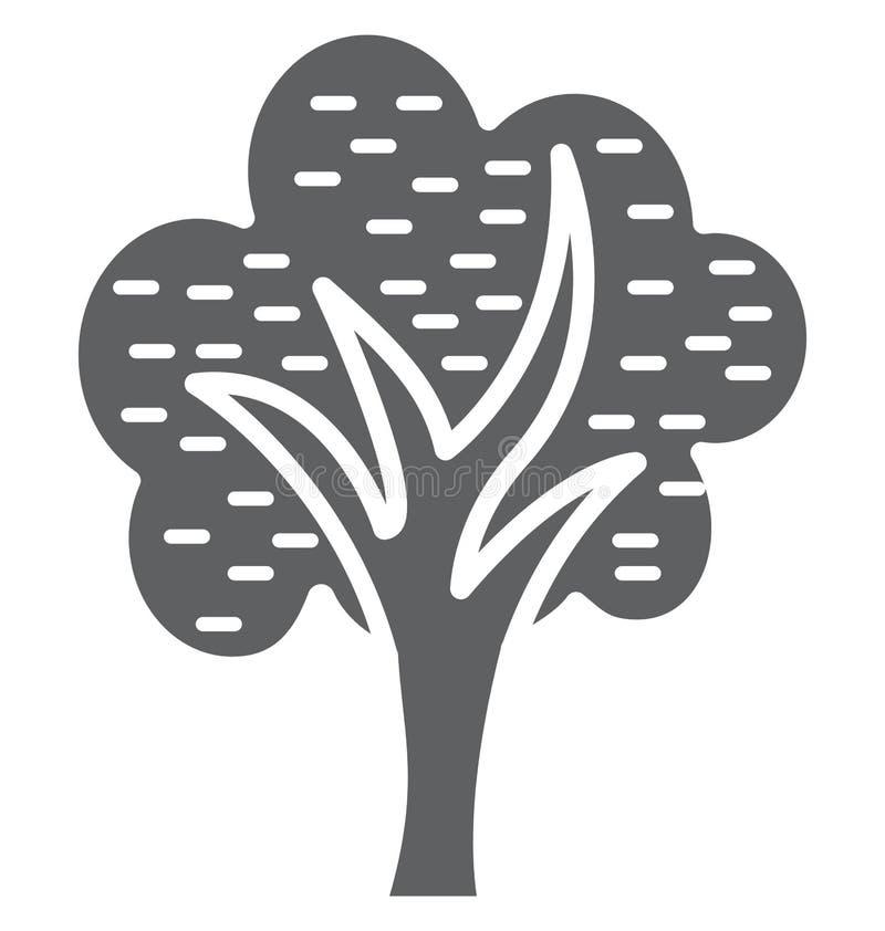 De cipres isoleerde Vectorpictogram dat gemakkelijk kan worden gewijzigd of uitgeven royalty-vrije illustratie