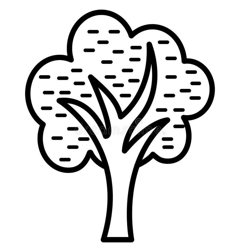 De cipres isoleerde Vectorpictogram dat gemakkelijk kan worden gewijzigd of uitgeven stock illustratie