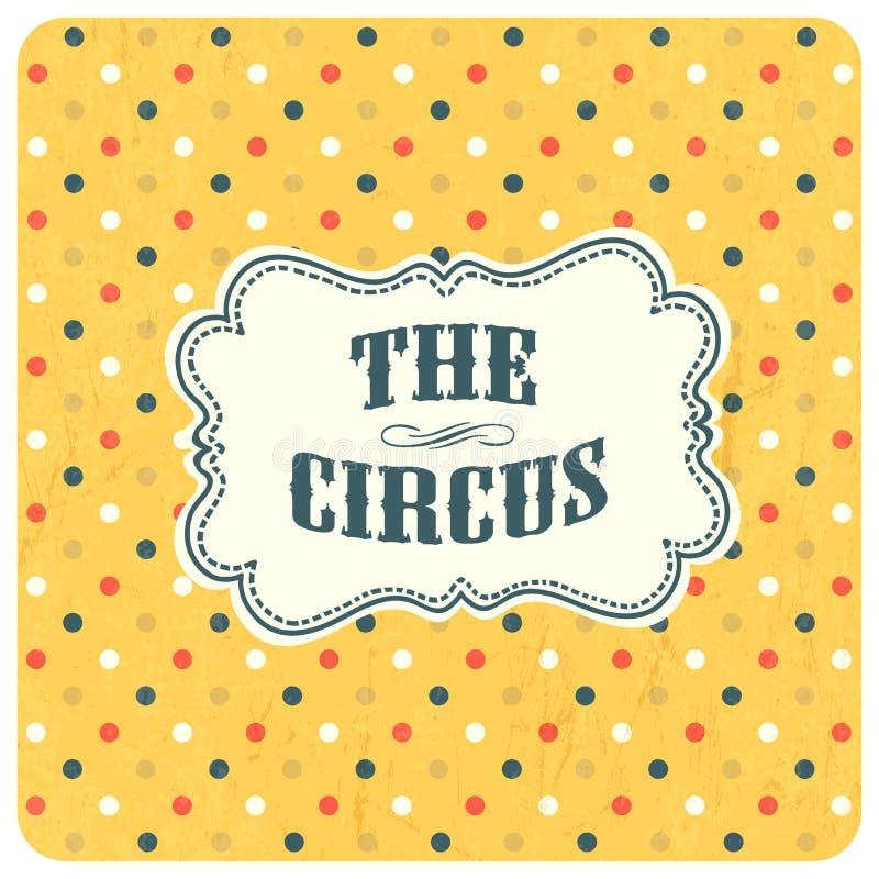 De circus abstracte achtergrond Vector royalty-vrije illustratie
