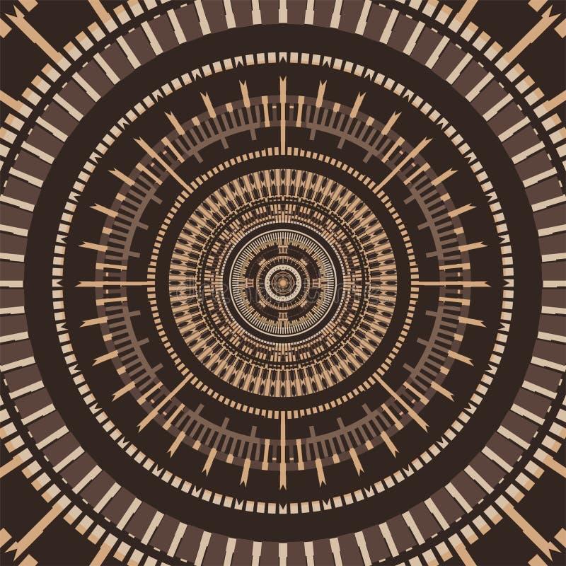 De cirkel etnische achtergrond van Nice vector illustratie
