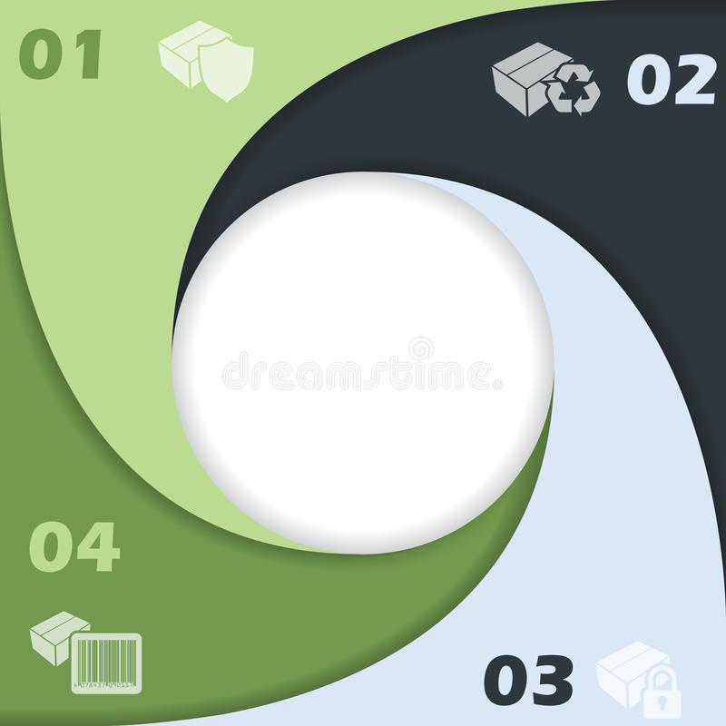 De cirkel gaf infographic ontwerp met pictogrammen gestalte vector illustratie