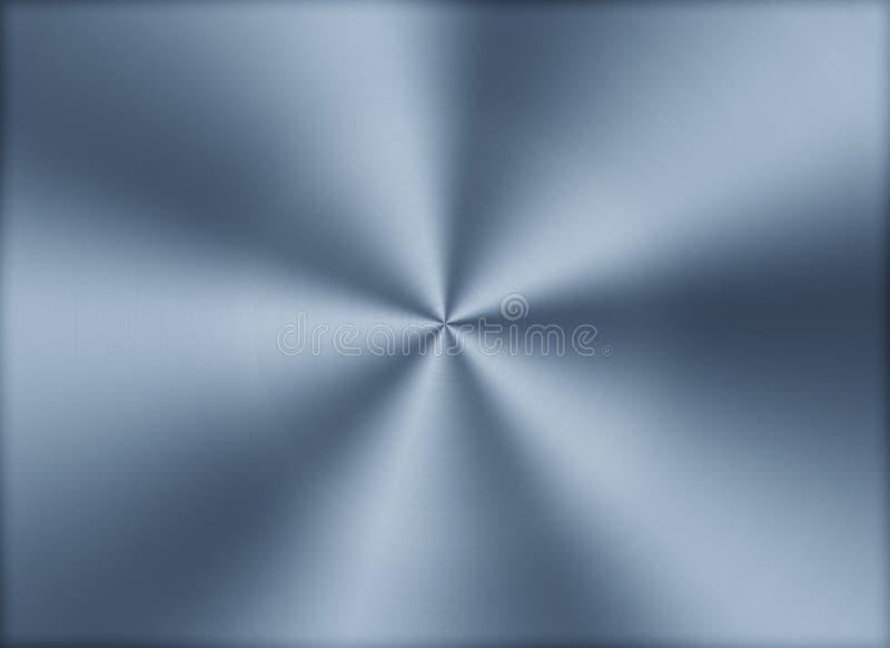 De cirkel geborstelde Achtergrond van de metaaltextuur stock illustratie