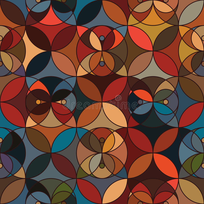 De cirkel kijkt u symmetrie naadloos patroon royalty-vrije illustratie