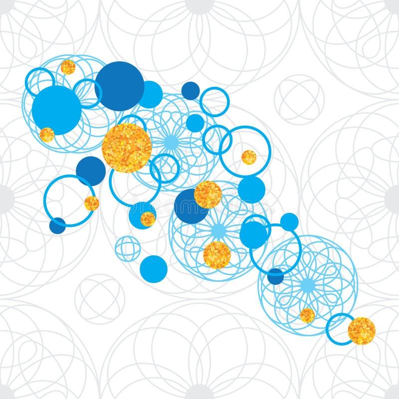 De cirkel naadloos patroon van het cirkelspel vector illustratie