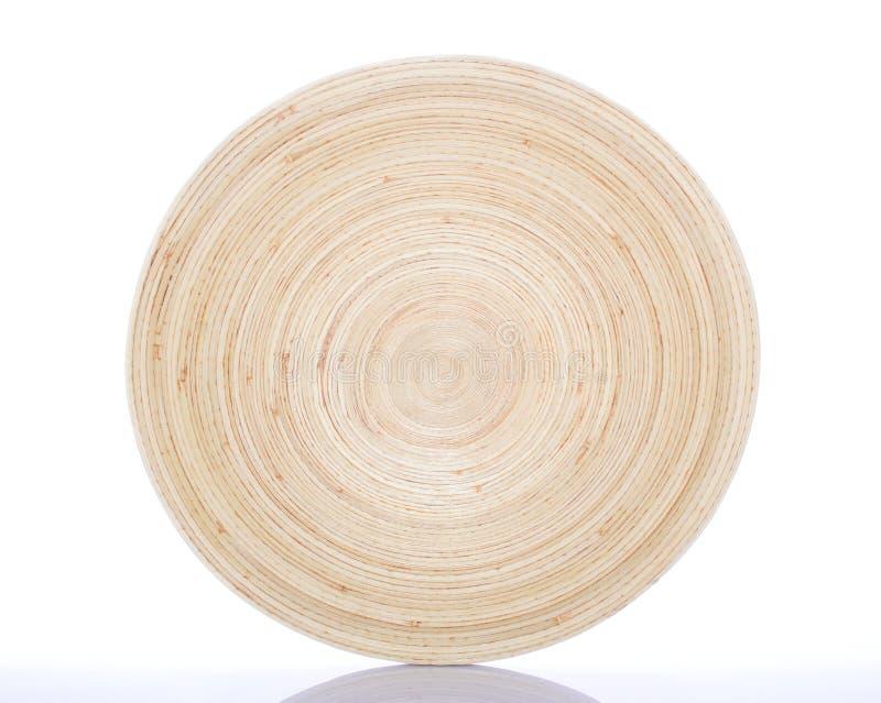 De cirkel Schotel van het Bamboe royalty-vrije stock afbeelding