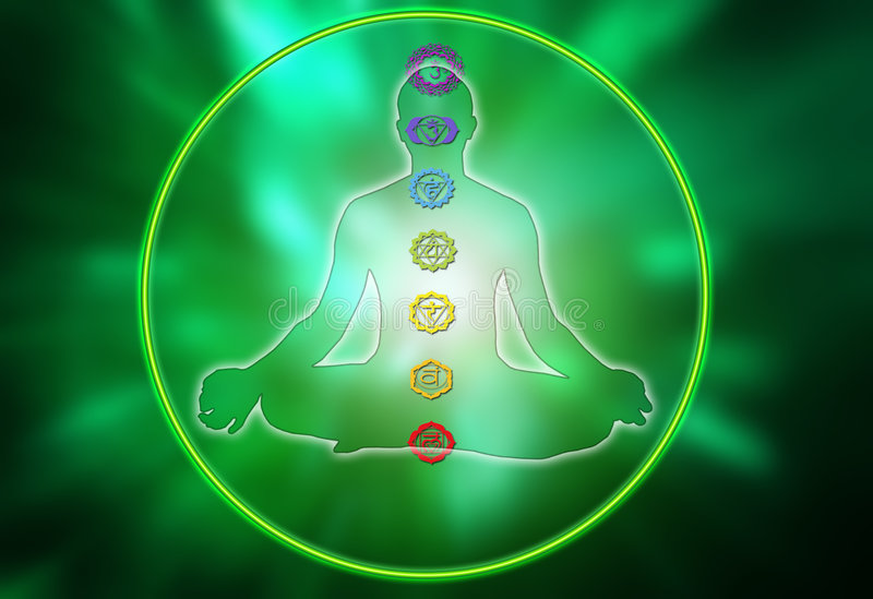 De cirkel van Chakra vector illustratie