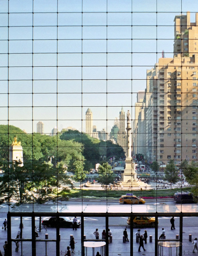 De Cirkel van Columbus, Manhattan. stock foto