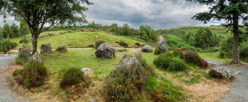 De cirkel van de Dromagorteensteen in Bonane-Erfeniscentrum, Ierland royalty-vrije stock afbeelding