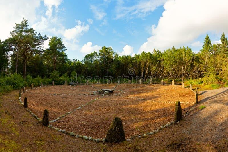 De cirkel van de Steen in Sola, Rogaland, Noorwegen. royalty-vrije stock foto