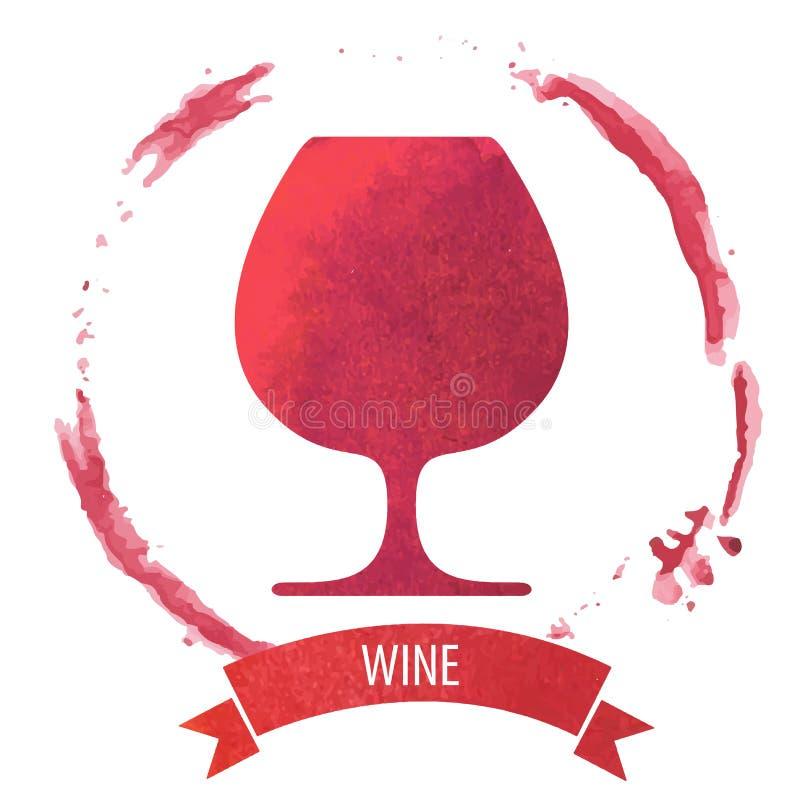 De cirkel van de wijnvlek stock illustratie